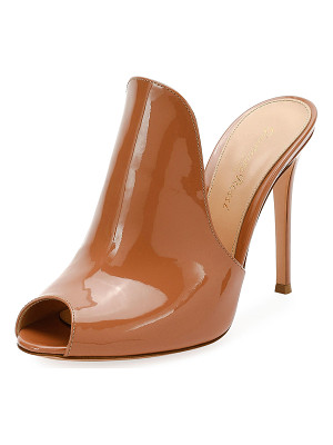 GIANVITO ROSSI 105mm Patent Leather Mule Sandal