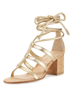 GIANVITO ROSSI Cayman Lace-Up Metallic 60mm Sandal