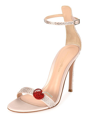 GIANVITO ROSSI Cherry Portofino Ankle-Wrap 105mm Sandal