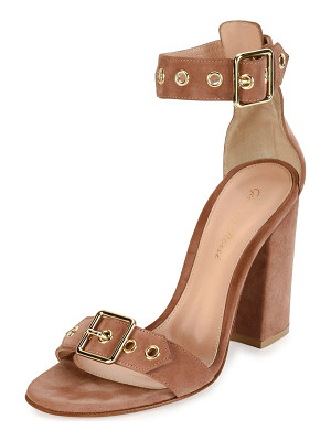 GIANVITO ROSSI Hayes Suede Buckle 100mm Sandal