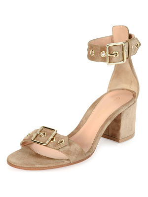 GIANVITO ROSSI Hayes Suede Buckle 60mm Sandal
