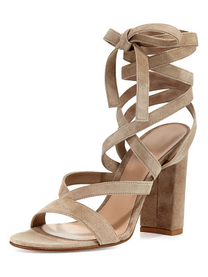 GIANVITO ROSSI Janis High Suede Lace-Up 105mm Sandal