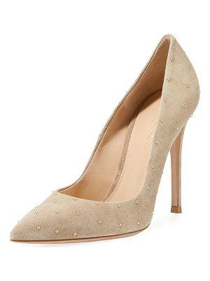 GIANVITO ROSSI Suede Studded 105mm Pump