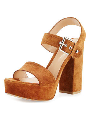 GIANVITO ROSSI Suede Two-Band Platform Sandal