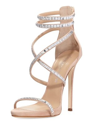 GIUSEPPE ZANOTTI FOR JENNIFER LOPEZ Coline Suede And Crystal Sandal
