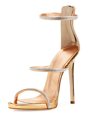 Giuseppe Zanotti Jeweled Three-Strap 110mm Sandals