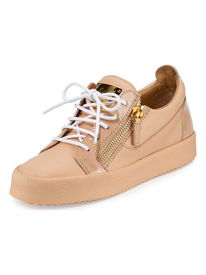 Giuseppe Zanotti London Leather Side-Zip Sneakers