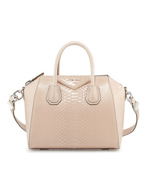 GIVENCHY Antigona Shiny Python Small Satchel Bag