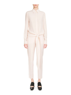 Givenchy Button-Front Tie-Waist Blouse