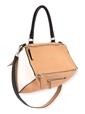GIVENCHY Pandora Medium Bicolor Sugar Leather Satchel Bag