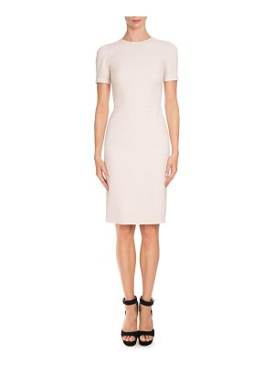 Givenchy Short-Sleeve Fitted Pencil Dress