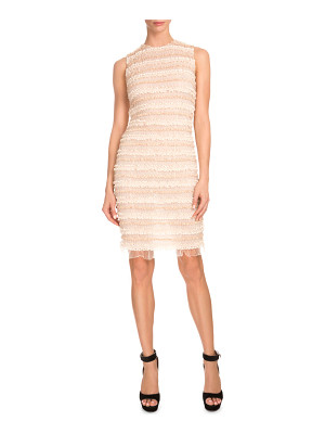Givenchy Sleeveless Micro-Ruffle Cocktail Dress