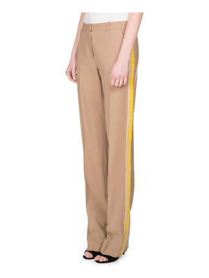 Givenchy Wool Track-Stripe Straight-Leg Trousers