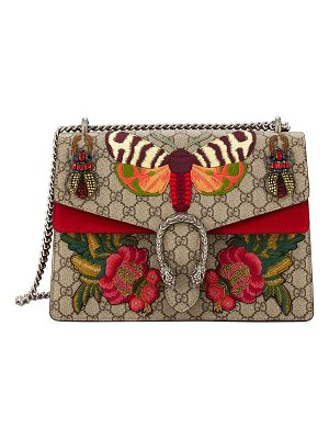 Gucci Dionysus Medium Embroidered GG Supreme Shoulder Bag