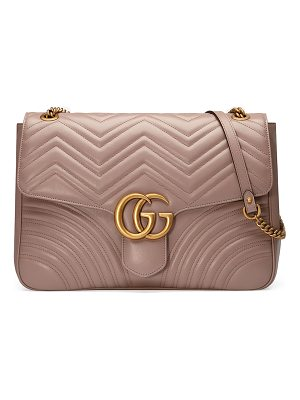 GUCCI Gg Marmont Large Chevron Quilted Leather Shoulder Bag