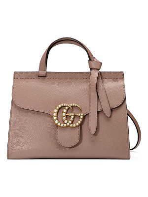 GUCCI Gg Marmont Small Pearly Top-Handle Satchel Bag