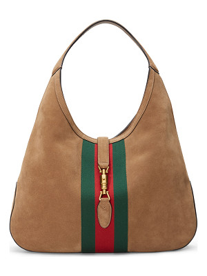 GUCCI Jackie Soft Large Suede Hobo Bag