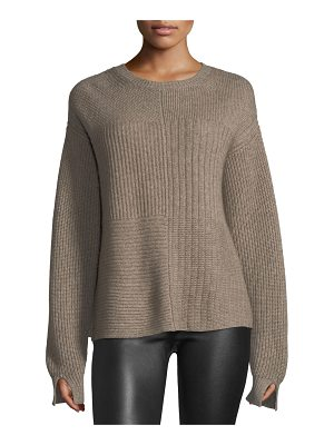 HELMUT LANG Crewneck Long-Sleeve Textured Pullover Sweater
