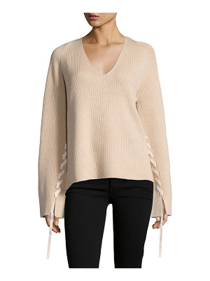 Helmut Lang Ribbed Wool-Blend Pullover Sweater