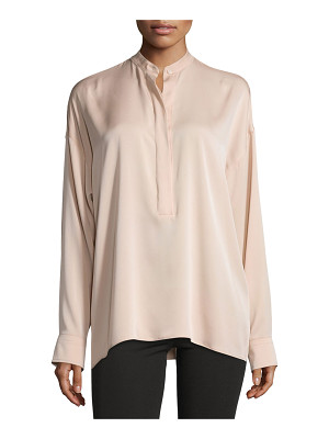 Helmut Lang Tie-Back Stretch Silk Top