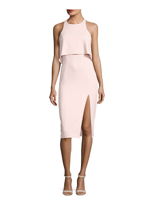 JAY GODFREY Charles Sleeveless Popover Cocktail Sheath Dress W/ Slit
