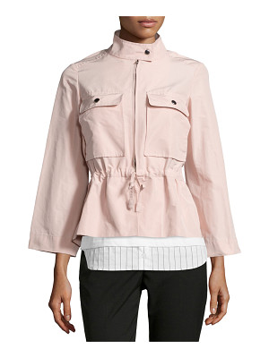 Jil Sander Navy Drawstring-Waist Sporty Jacket