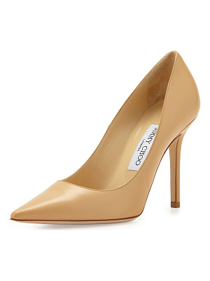 JIMMY CHOO Abel Leather Point-Toe Pump