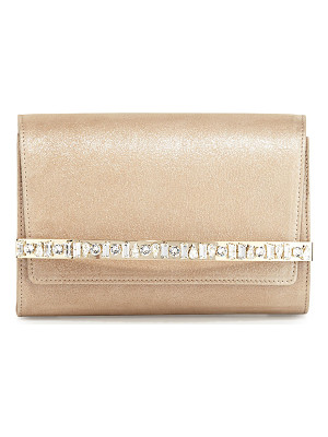 Jimmy Choo Bow Crystal-Bar Clutch Bag