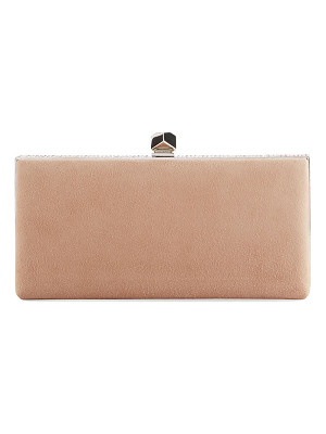 Jimmy Choo Celeste Suede Box Clutch Bag