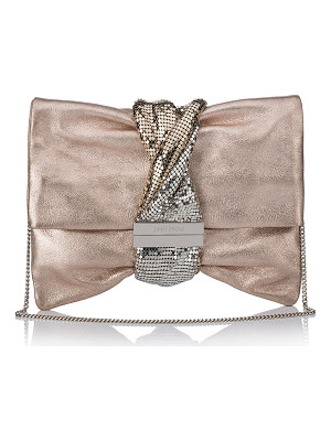 Jimmy Choo Chandra/M Metallic Clutch Bag