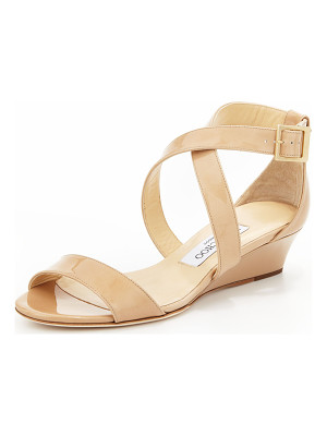 Jimmy Choo Chiara Demi-Wedge Crisscross Sandal