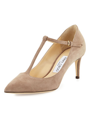 Jimmy Choo Daria Suede T-Strap 65mm Pump