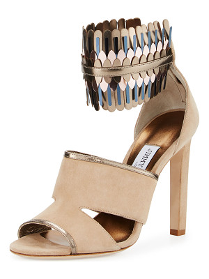 Jimmy Choo Klara Suede Ankle-Wrap 110mm Sandal
