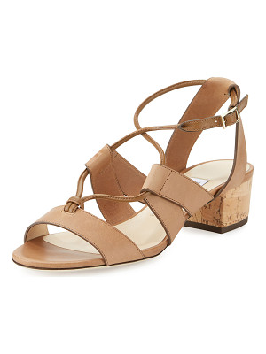 JIMMY CHOO Margo Leather Crisscross 40mm Sandal