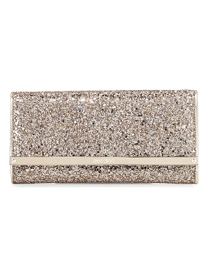 Jimmy Choo Milla Large Glitter Clutch Bag