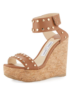Jimmy Choo Nelly Studded Cork Wedge Sandal