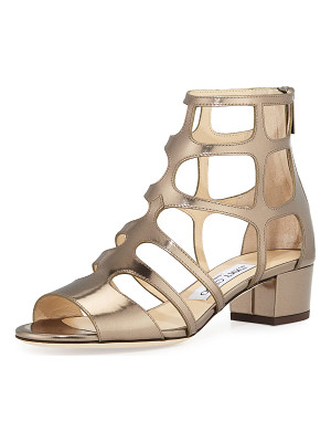 JIMMY CHOO Ren Mirrored Caged 35mm Sandal
