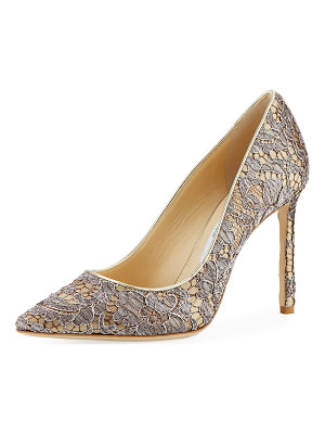 JIMMY CHOO Romy Metallic Lace 100mm Pump