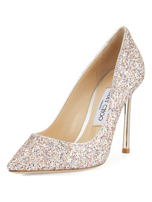Jimmy Choo Romy Glitter Pointed-Toe 100mm Pump