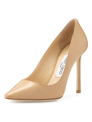 Jimmy Choo Romy Leather Pointed-Toe 100mm Pump