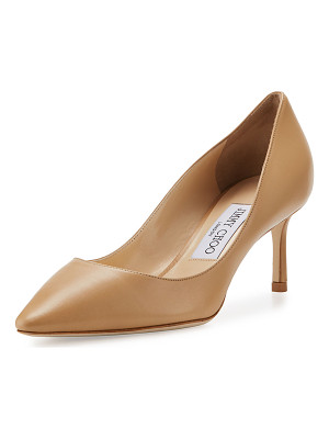 JIMMY CHOO Romy Leather Pointed-Toe 60mm Pump