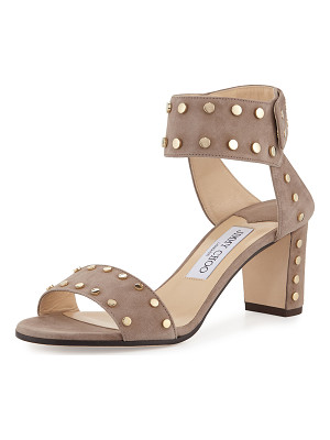 Jimmy Choo Veto Studded Suede 100mm Sandal