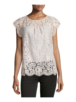 Joie Channelle Bow-Back Lace Top