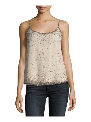 JOIE Garlen Scoop-Neck Sequined Tank
