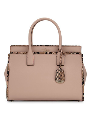 KATE SPADE NEW YORK Cameron Street Candace Snakeskin Satchel Bag