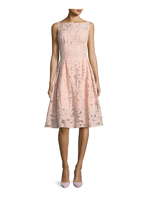 KATE SPADE NEW YORK Floral Fil Coupe Sleeveless Bateau-Neck Cocktail Dress