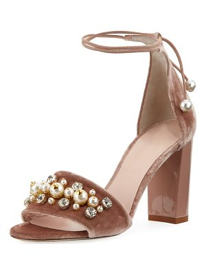 KATE SPADE NEW YORK Iverna Velvet Embellished City Sandal