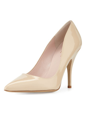 KATE SPADE NEW YORK Licorice Patent Leather Point-Toe Pump