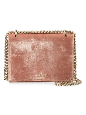 KATE SPADE NEW YORK Marci Velvet Flap Chain Shoulder Bag