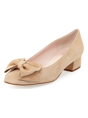 Kate Spade New York molly suede low-heel bow pump